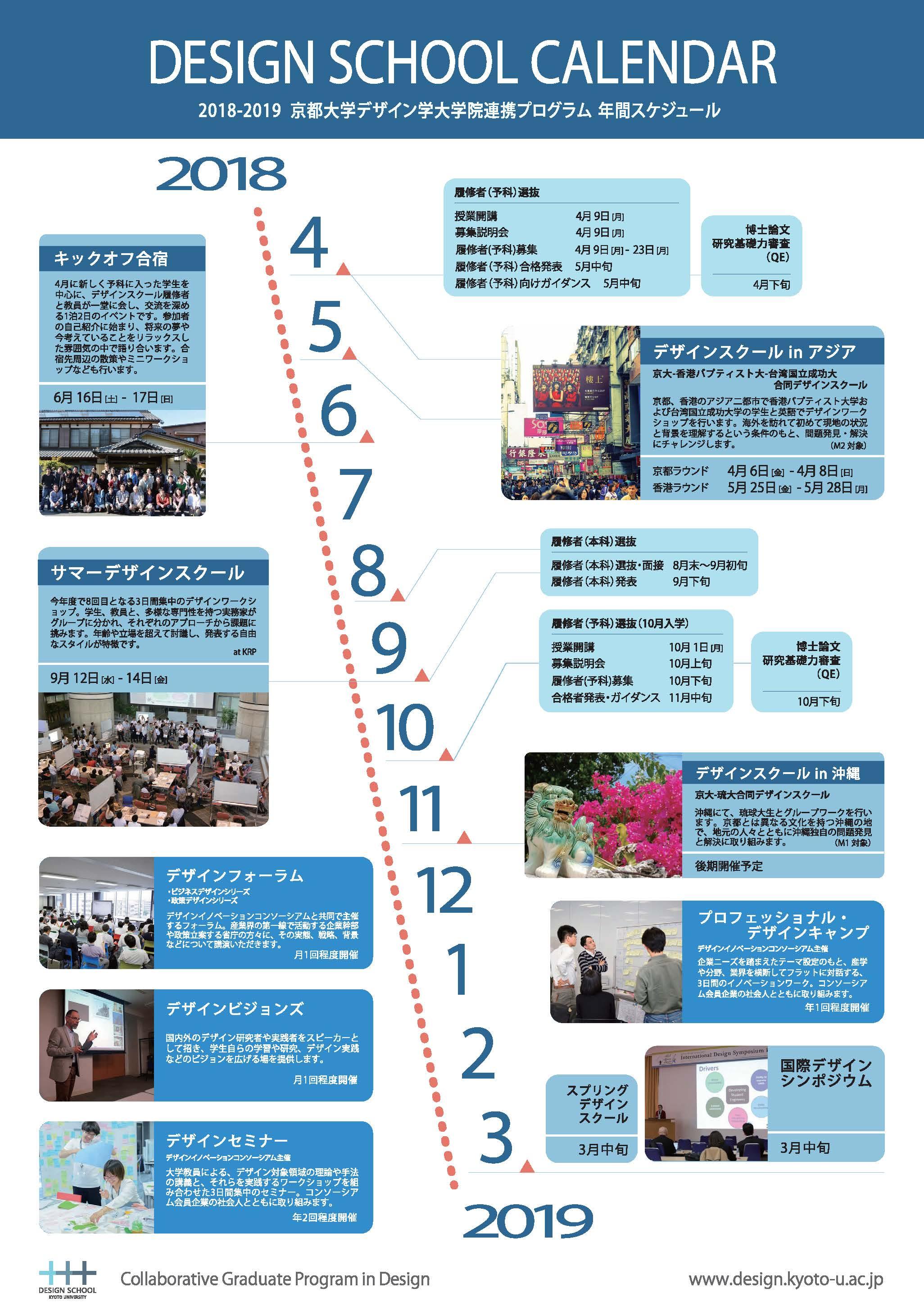 平成30年度スケジュール Schedule 2017