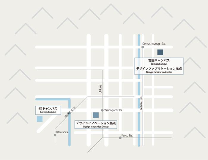 京都大学デザインスクール地図