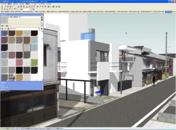 3次元CGを用いた都市エリアの景観シミュレーション