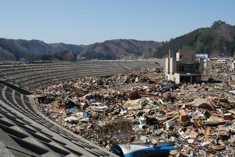 東日本大震災の被害(宮古市田老地区)