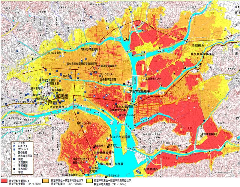 高知市での湛水被害
