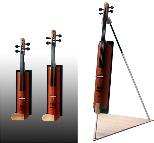 紙管素材によるヴァイオリン、ビオラ、チェロ